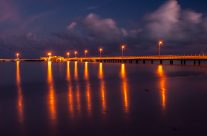 Reflections of Lights from Rumah Baru Jetty  _6KW7623